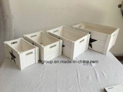 Acabamento antigo personalizado Caixa Engradado de madeira natural para Armazenamento