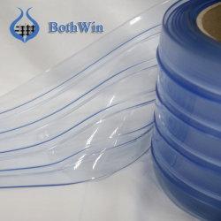 Côtes doubles rideaux transparent en PVC souple les rouleaux de bande