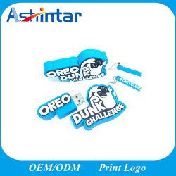 Customed 2D/3D Silicon disco flash USB drive USB de Borracha