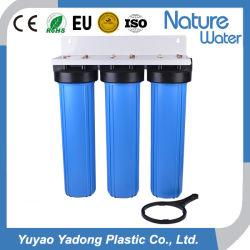 Filtro da acqua blu industriale delle 3 fasi grande per il sistema di purificazione di acqua del RO