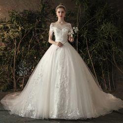 Eleganter reizvoller Sommer schultert A - Zeile Hochzeits-Kleid