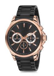 Men's Watch étanche occasionnel cadran bleu acier noir Main homme d'affaires de quartz watch montres étanches