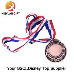 Китай прямой продажи на заводе работает спорта медаль с лентой