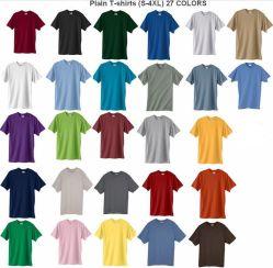 Plaine de base de coton T-Shirt avec manchon court