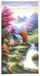 再生のトマスKinkadeの庭の景色の油絵