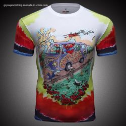 Vestuário de desporto padrão personalizado Ginásio Exercício t Shirt homens Outdoor Impressão Digital