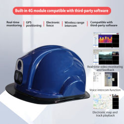 4G WiFi шлем камеры с помощью GPS поддерживается Функция двухпотоковой передачи данных в реальном времени и два аудио