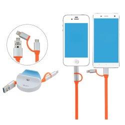 3 en 1 lecteur de carte Micro escamotable OTG Lightning plat du câble du statif USB pour Apple iPhone iPad Samsung détenteur de support de bureau