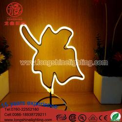 Feuilles d'éclairage LED signer au néon de lumière pour la table Décoration de Noël