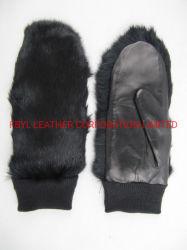 Senhora Fashion/Inverno/AQUECIMENTO// Peles com luvas de couro (JYG-23012)