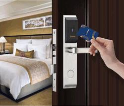 Serratura astuta elettronica dell'hotel della serratura di portello RFID della scheda impermeabile di lusso del colpo di Orbita con il sistema libero