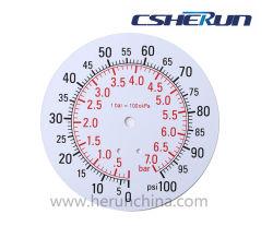 A partir de 1 polegada para 10 polegadas Medidor de Pressão da placa de discagem