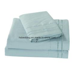 Commerce de gros 100% Polyester bambou jeu de feuilles de literie textile souple