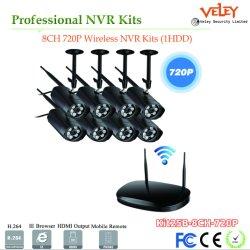 Gravador de Vídeo em Rede 8CH câmara Mini DVR NVR Kits de segurança