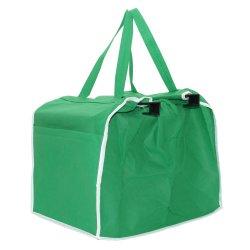 비 절연제 포일 쇼핑 카트 부대로 길쌈하는 Recylcled 재사용할 수 있는 트롤리 어깨 슈퍼마켓 식료품류 Eco 주문 접을 수 있는 Foldable 접히는 환경