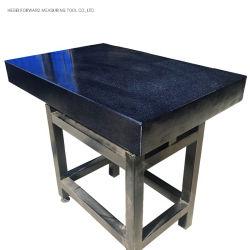 Strumenti di misurazione del granito di alta precisione; Tabella di marmo di controllo; Tabella del granito; Piatto di superficie del granito con il basamento
