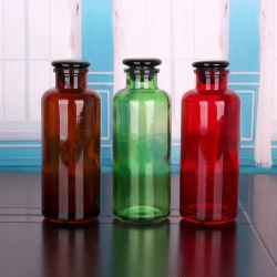 700ml frasco de reagente de vidro de cor âmbar com rolha de vidro para uso de produtos químicos de laboratório farmacêutico