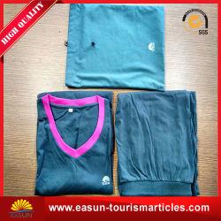 Dame-Polyester-Baumwolschlafanzüge