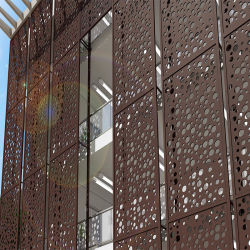 Kundengebundene Maschrabiya Perforierte Aluminium-Siebplatten Für Fassadendekoration
