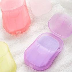 개인 라벨 휴대용 SOAP 포장 종이 고체 핸드 워시 리치 야외 캠핑 하이킹을 위한 폼