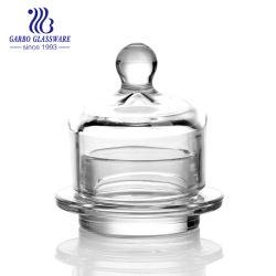 Plaque ronde 4inch beurre Candy Jar avec couvercle en verre (GB1871-1)