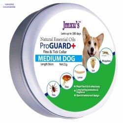 Collare di cane aggiunto medio della pulce dell'olio essenziale del cane del collare grigio impermeabile di colore per la Cina