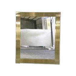 Banho de aço inoxidável de luxo da luz de espelho de móveis espelho decorativo