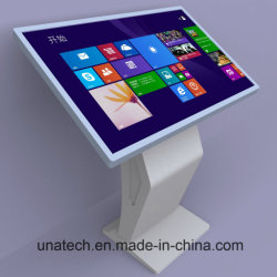 Affichage LCD Totem Kiosque d'information à l'horizontale Indoor Media Player IR Infrarouges pour l'École d'écran tactile/l'éducation de l'hôpital avec système de PC sous Windows