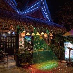 Barato preço personalizado Porta Exterior Verde Laser de boas-vindas com projector de luz de uma estrela vermelha