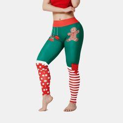 De la mujer de nylon de longitud completa Spandex PRO Cool Athletic Gym Entrenamiento Imprimir pantalones de yoga