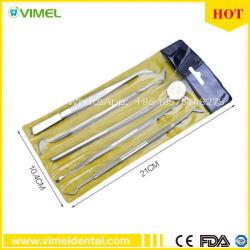 Os PCS 5 Kits de Ferramenta de higiene dentária Pinças de aço inoxidável Espelho de febre aftosa