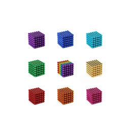 상자를 가진 다채로운 마술 자석 네오디뮴 구체 자석 수수께끼
