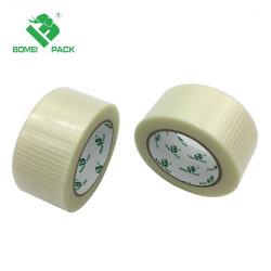 Bande de cerclage de filaments en fibre de verre à usage intensif de l'emballage pour le regroupement de bandes d'emballage transparent de palettisation 1.88inchesx30yds