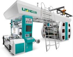 6 Machine van de Druk van het Type van Indruk van de kleur de Centrale Flexographic Plastic