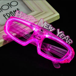 Cheap LED clignotant Glow partie 2018 Happy New Year lunettes
