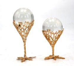 Decorazione domestica di lusso della Tabella della casa della decorazione della decorazione della decorazione da tavolino domestica all'ingrosso unica della sfera di cristallo