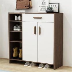 Euro-/moderner/kreativer Art-Standplatz-hölzernes Korn/weißer/schwarzer Schuh-Speicher-Schrank mit Tür