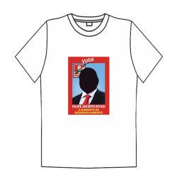 T-shirt van de Campagne van de Verkiezing van de polyester de Lege Witte T-shirt Aangepaste