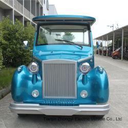 Blue 12 Seats Electric Classic Car 관광 차량