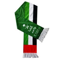 월드컵을%s 한 뜨개질을 한 공단 스카프는 팬 클럽 스카프를 위한 스카프를 부채로 부친다