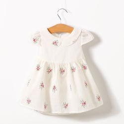 베이비 걸 여름 플라이 슬리브 베이비 의류 스팟 프린트 드레스, 소매 및 도매