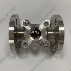 A extremidade do flange de aço inoxidável do visor do indicador de fluxo com impulsor