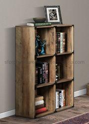 家庭内オフィスの家具の木の無作法なカシカラー6立方体の本箱