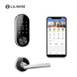 Smart Wireless APP biométrico Digital de código de la tarjeta RFID de bloqueo de puertas planas