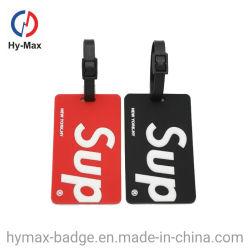 공장 주문 만화 형식 둥근 연약한 PVC/고무 또는 플라스틱 항공 여행 부대 이름표 항공 수화물 꼬리표