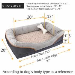 Cama perro mascota de espuma de memoria extraíble de la cama con Cubierta lavable