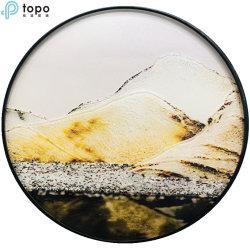 het Schilderen van het Glas van de Kunst van het Landschap van de Cirkel van 400mm voor het Decor van de Muur (M.-yb6-2051A)