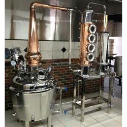 Kupferne Potenziometer-Edelstahl-Destillierkolben-noch Spalte destillieren Spalte mit Luftblasen-Schutzkappen-Platte 4 Zoll