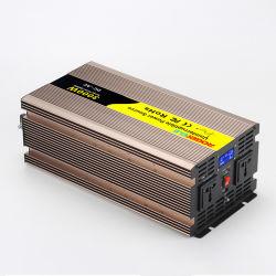3000W 12V/24V/48V DC à AC 110V/220V Convertisseur de courant de l'onduleur avec chargeur