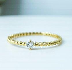 Solitaire 18K 금 반지 다이아몬드 반지 과료 보석